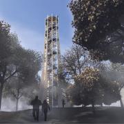 Rendering | Annäherung an den Atzelbergturm