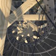 Rendering | Blick durch die Spirale des Aussichtsturm