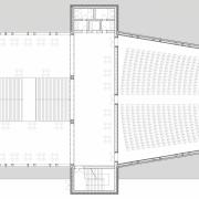 Grundriss des dritten Obergeschosses mit Zuschauersaal | M 1:200