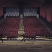 Rendering | Blick von der Bühne in den Zuschauersaal von dem Theater