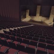 Rendering | Blick durch den Zuschauersaal in die Bühne