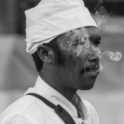 indonesia | portrait of a smoking man