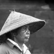 indonesia | lady with rice hat