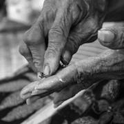indonesia | preparing her betelnut