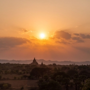 myanmar | bagan sunset with clouds
