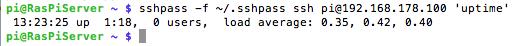 Das SSH Passwort wird mit sshpass übergeben