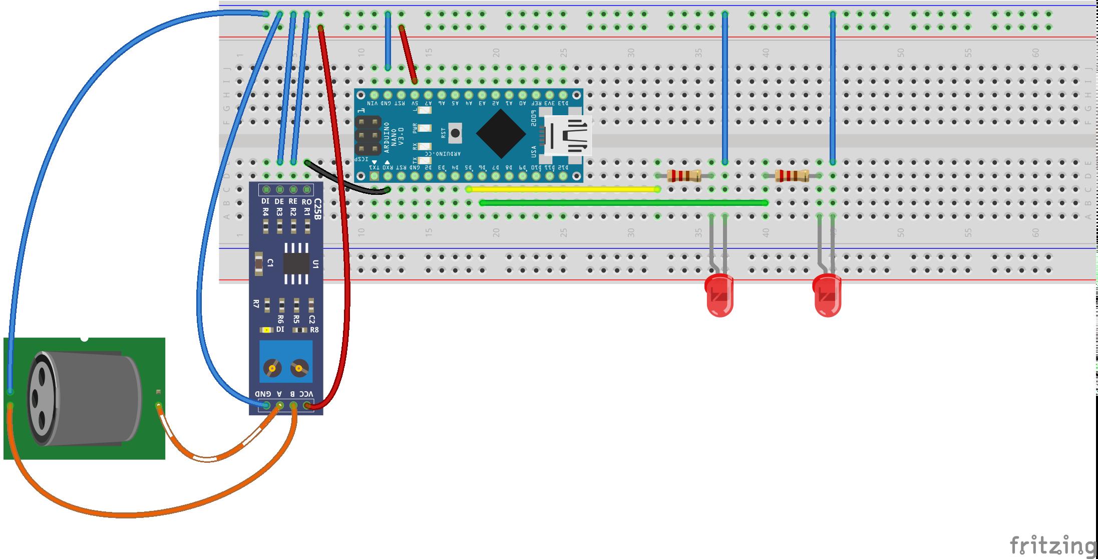 DMX empfangen mittels Arduino